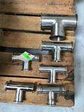 Lot of Food Grade Stainless Steel *T* Adapters