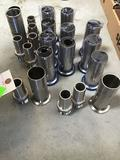 Lot of Food Grade Stainless Steel Hose to Flange Adapters