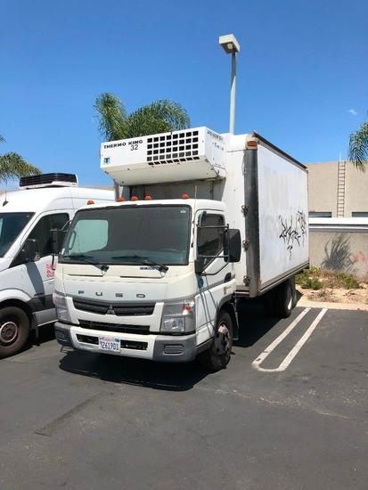 2012 16ft Mitsubishi Fuso Refrigerated Box Truck FOR DEALER OR EXPORT ONLY TRANSMISSION WONT SHIFT