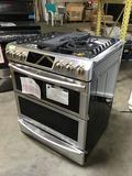Samsung - Flex Duo 5.8 Cu. Ft. Self-Cleaning Slide-In Double Oven Dual Fuel Convection Range -