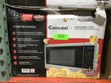 Sharp Carousel 1.1 Cu. Ft. Mid-Size Microwave - Stainless steel
