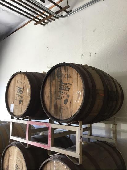 Empty Wood Barrels