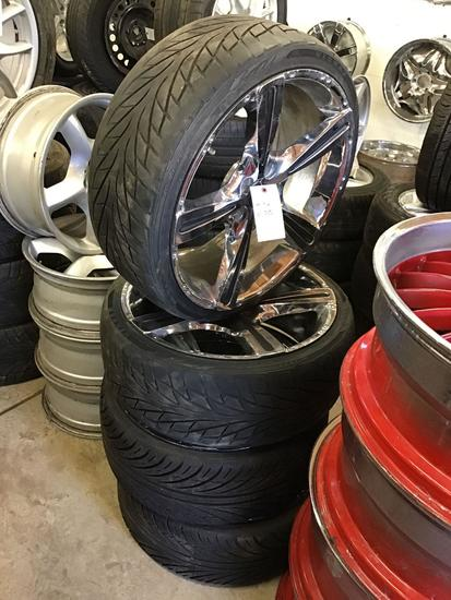 (4) 20in Wheels That Fit Mercedes E-350