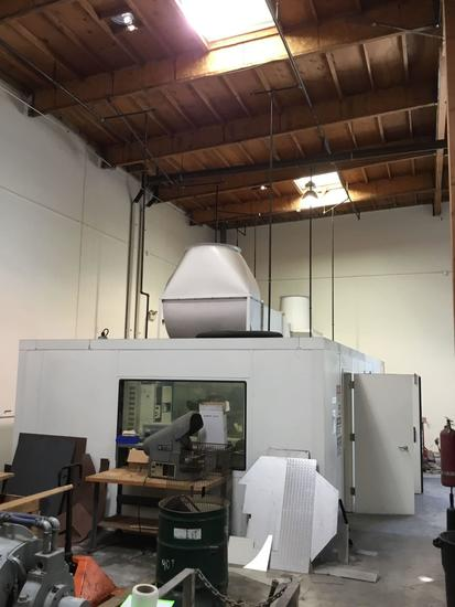 30ft L x 15ft W. Industrial Noise Control Dyno Test Control Room