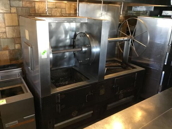 J and R Solid Fuel 6 Spit Rotisserie/Char Grill