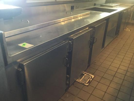 6 Door Refrigerated Prep Table with Sink