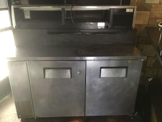 True 2 Door Refrigerator and Hoshizaki Countertop Showcase