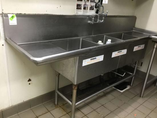 Accurate 3 Compartment Commercial Sink