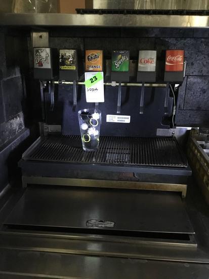 6 Valve Drop-In Soda Fountain Dispenser with Ice Storage