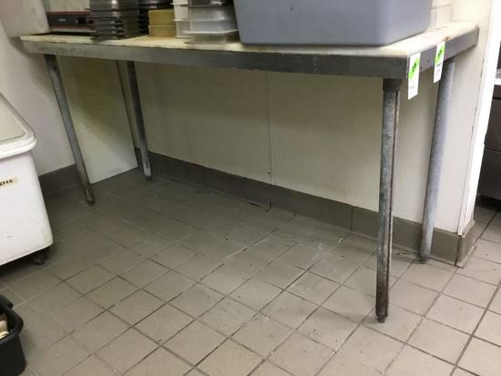 Stainless Steel Prep-Table with Cutting Board