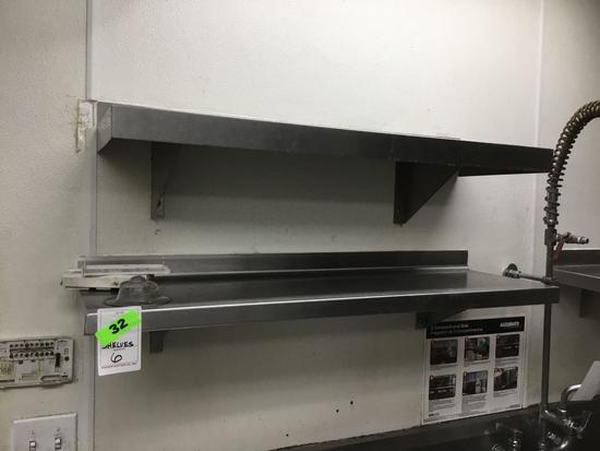 (6) Stainless Steel Shelves