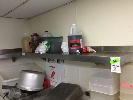 (3) Stainless Steel Shelves