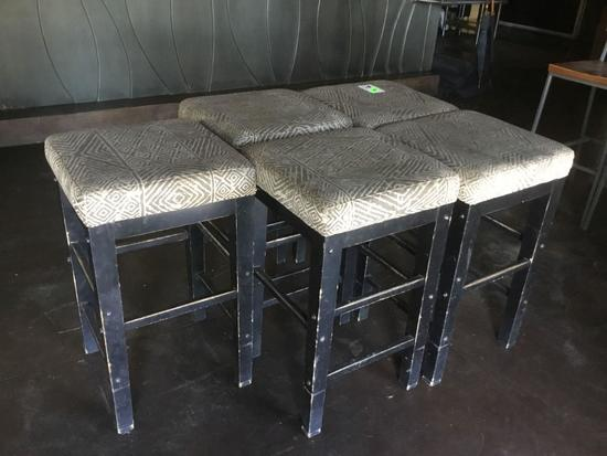 (5) Bar Height Stools with Cushions