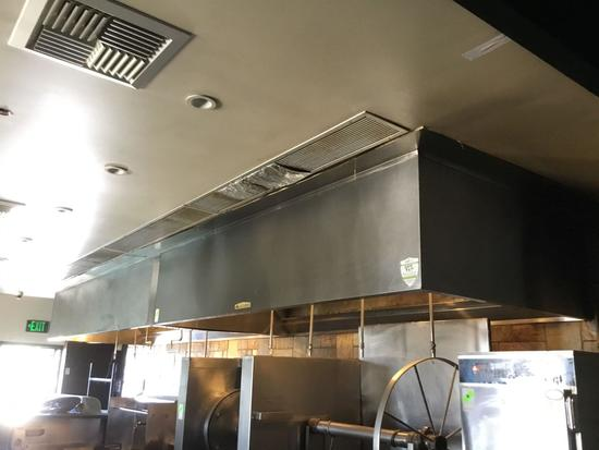 ACCUREX Commercial Kitchen Exhaust Hood with ANSUL R-102 Wet Chemical Fire Suppression System