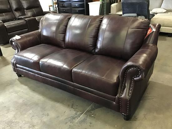 World Menagerie Hotchkiss Leather Sofa