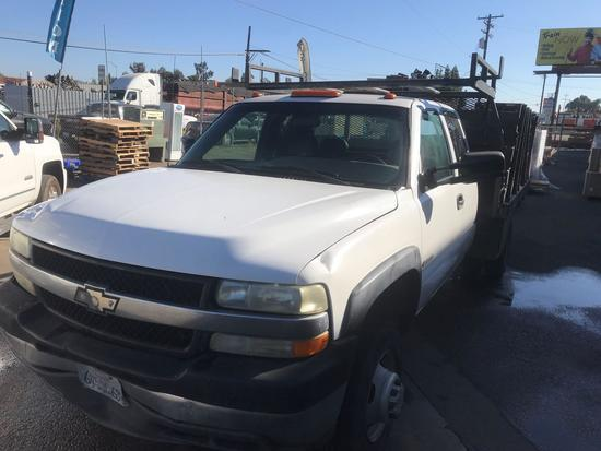 2002 Chevrolet Silverado Extended Cab with 12ft Stake Bed***LIFT GATE IS WELDED CLOSED***