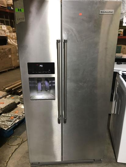 KitchenAid - 24.8 Cu. Ft. Side-by-Side Refrigerator - Stainless steel