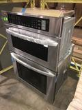LG Electronics 30 in. Electric Convection and EasyClean Wall Oven with Built-In Microwave in