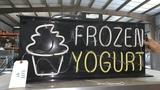 """Frozen Yogurt"" Sign"