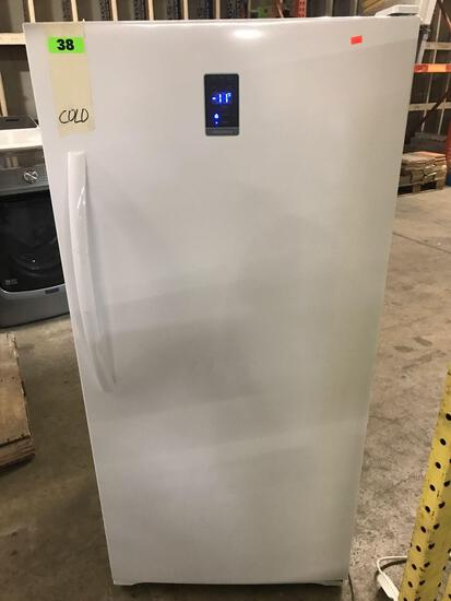Insignia - 13.8 Cu. Ft. Frost-Free Upright Convertible Freezer/Refrigerator - White***GETS COLD***
