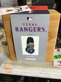 Bigr Audio XL-MLBTR1 Texas Rangers Wired Headphones in Wooden Case