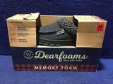Dearfoams Slippers Mens Size 9-10 Black