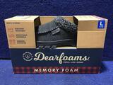 Dearfoams Slippers Mens Size 11-12 Black