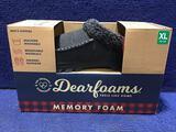 Dearfoams Slippers Mens Size 13-14 Black