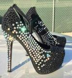 Womens Size 8-1/2 Rhinestone Heels