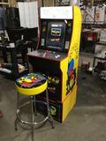 Arcade 1up Pac-Man/Pac-Man Plus Home Arcade Game w/Matching Stool