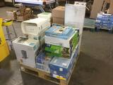 Pallet Lot of Assorted Household Organization Items
