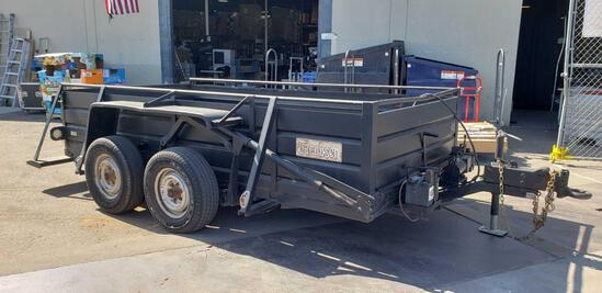 1991 Jacobsen 12ft Drop Deck Tandem Axle Trailer with 8,000 lbs. G.V.W.R.