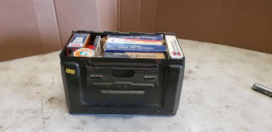 Lot of Assorted Ammo in Vintage Ammo Box