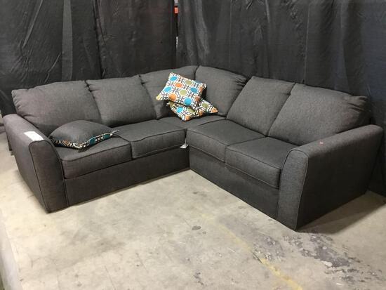 Dark Grey 2 Piece Sectional Sofa