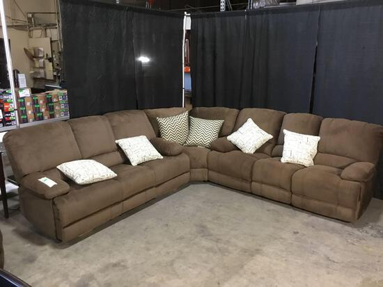 Brown Reclining 3 Piece Sectional