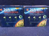 (2) Commercial Electric 26 ft Outdoor Water Resistant String Flood Light