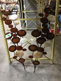(2) Metal Plant Decoration