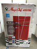 Magic Chef Retro 3.2 cu. ft. 2 Door Mini Fridge in Red