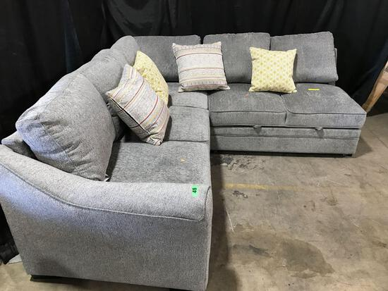 Gray Expandable Corner Couch