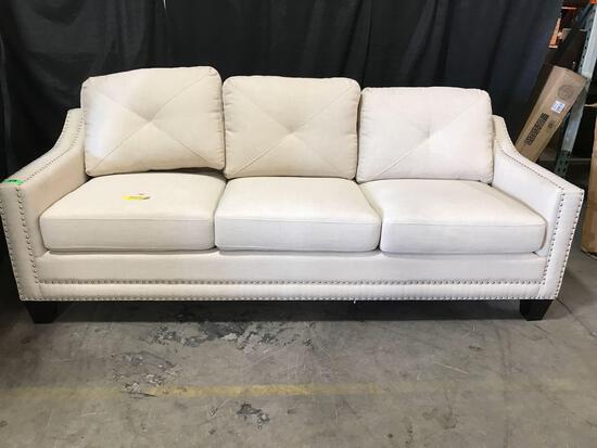 Galveston Sofa Fabric: Natural Size Beige