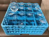 Lot of (15) Chef and Sommelier Wine Glasses w/Glass Rack