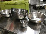 Lot of (16) Assorted Size Metal Mixing Bowls