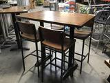 30in x 48in x 44in Wooden Bar Height Table w/(4) Chairs