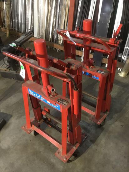 (2) Rol-A-Lift 2000lbs. Load Machinery Movers