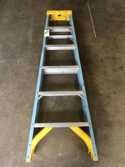 6ft. Fiberglass Werner ~A~ Frame Ladder
