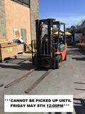 Toyota 5000lbs. Capacity Triple Stage Mast LPG Forklift with Side Shift