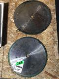 Lot of (7) Unused Metal Chop Saw Blades