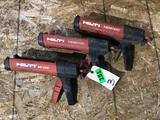 (3) Hilti MD 2000 Epoxy Application Guns
