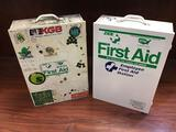 Lot of (2) First Aid Stations