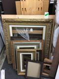 Lot of Assorted Sized Picture Frames
